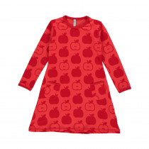 Maxomorra Red Apple Long Sleeved Dress
