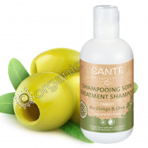 Sante Organic Ginkgo & Olive Treatment Shampoo for Stressed Hair 200ml