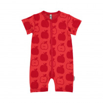 Maxomorra Red Apple Short Sleeved Rompersuit