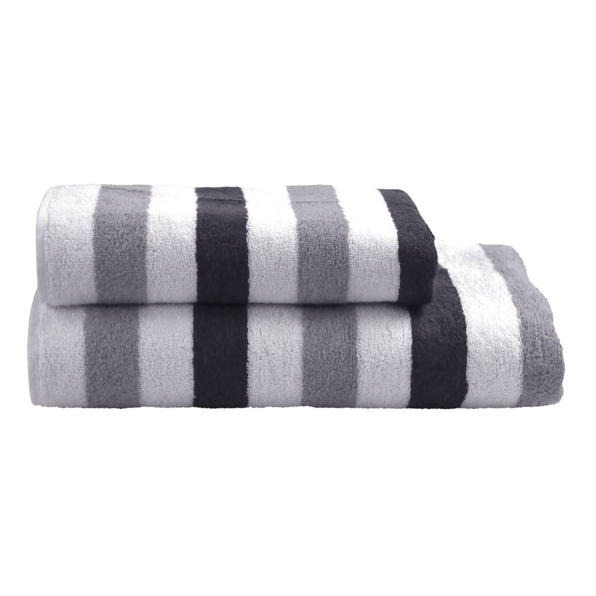 Dyckhoff Planet Stripes Towel 100% Organic Cotton - Grey