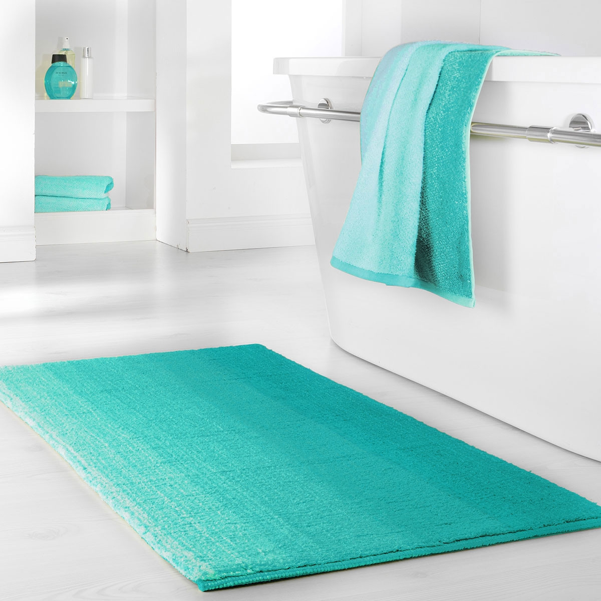 Dyckhoff Colori Bath Mat 100% Organic Cotton Aqua Blue