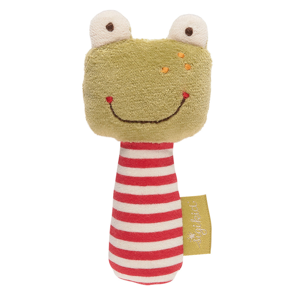Sigikid Rattle Frog, Organic Cotton