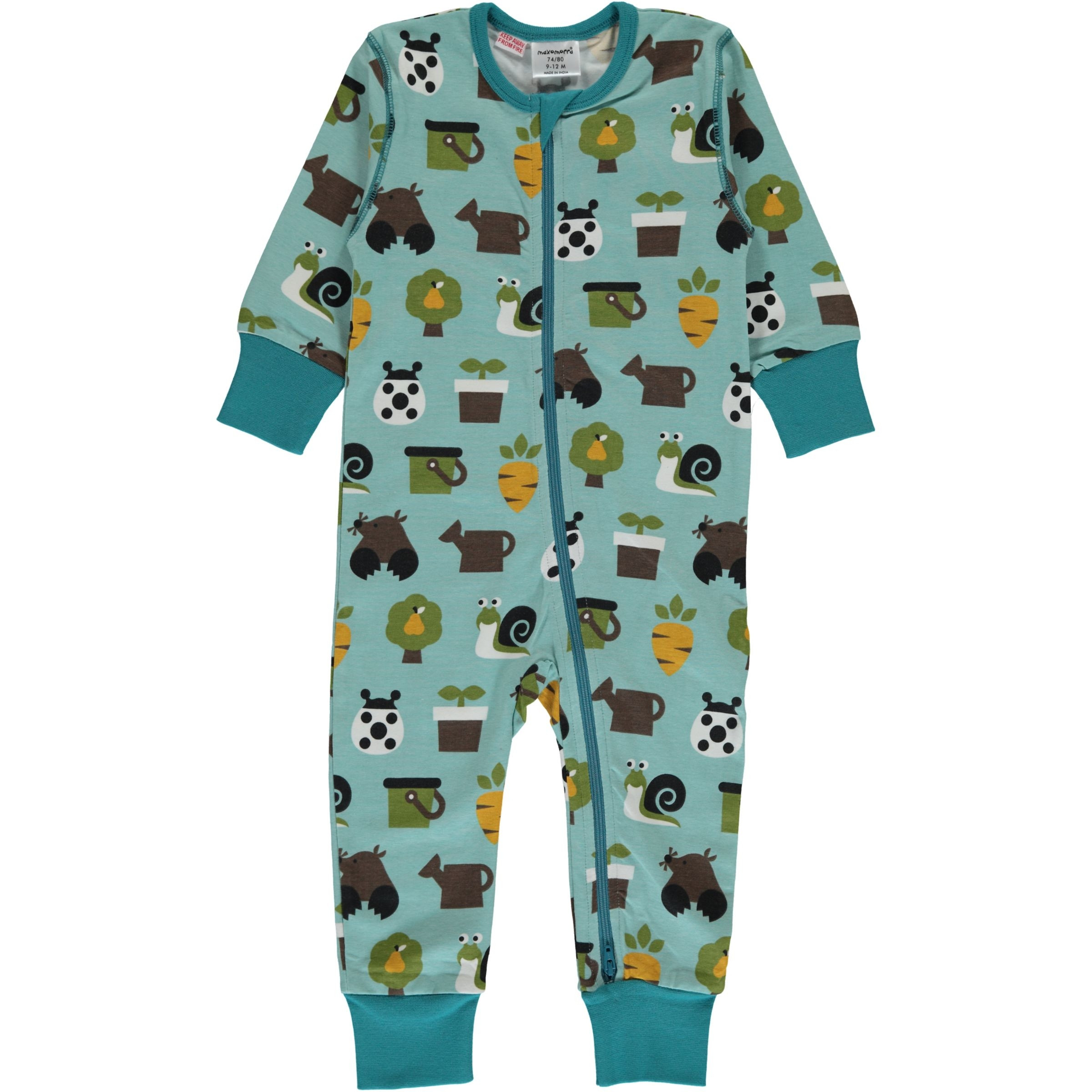 Maxomorra Garden Rompersuit Long Sleeved