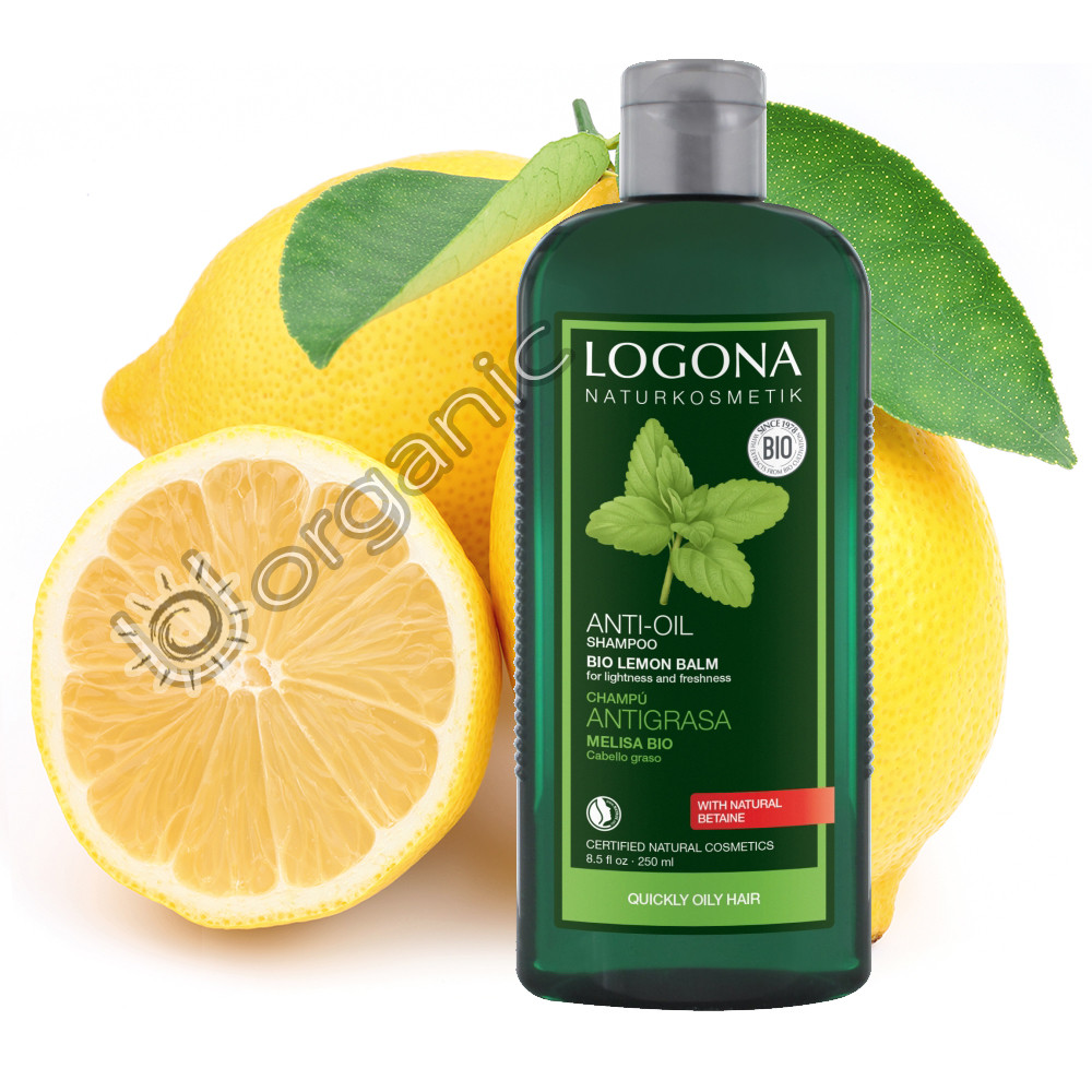 Logona Balance Shampoo Lemon Balm for Oily Hair & Sensitive Scalp 250ml