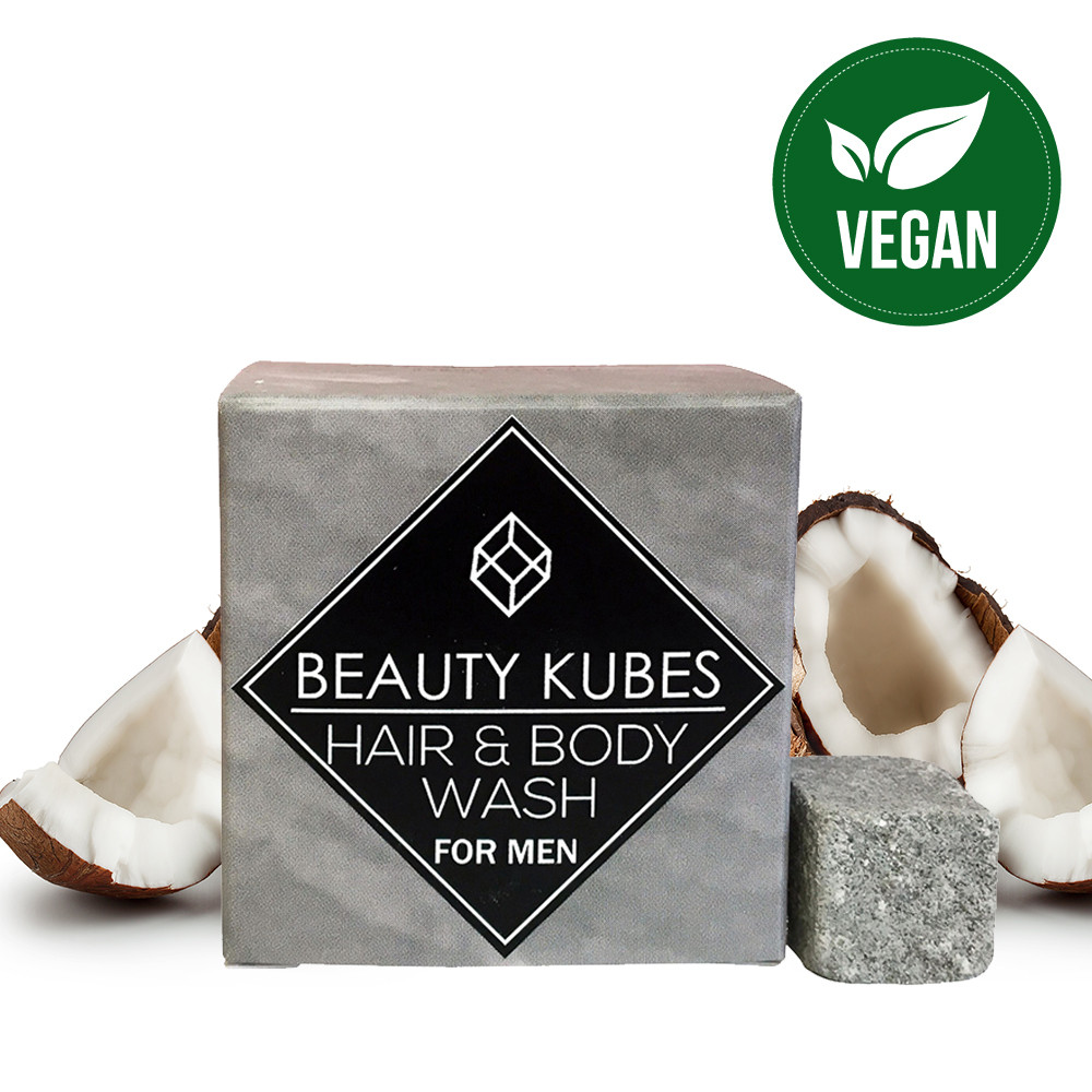 Beauty Kubes Hair & Body Wash for Men - 27 Kubes
