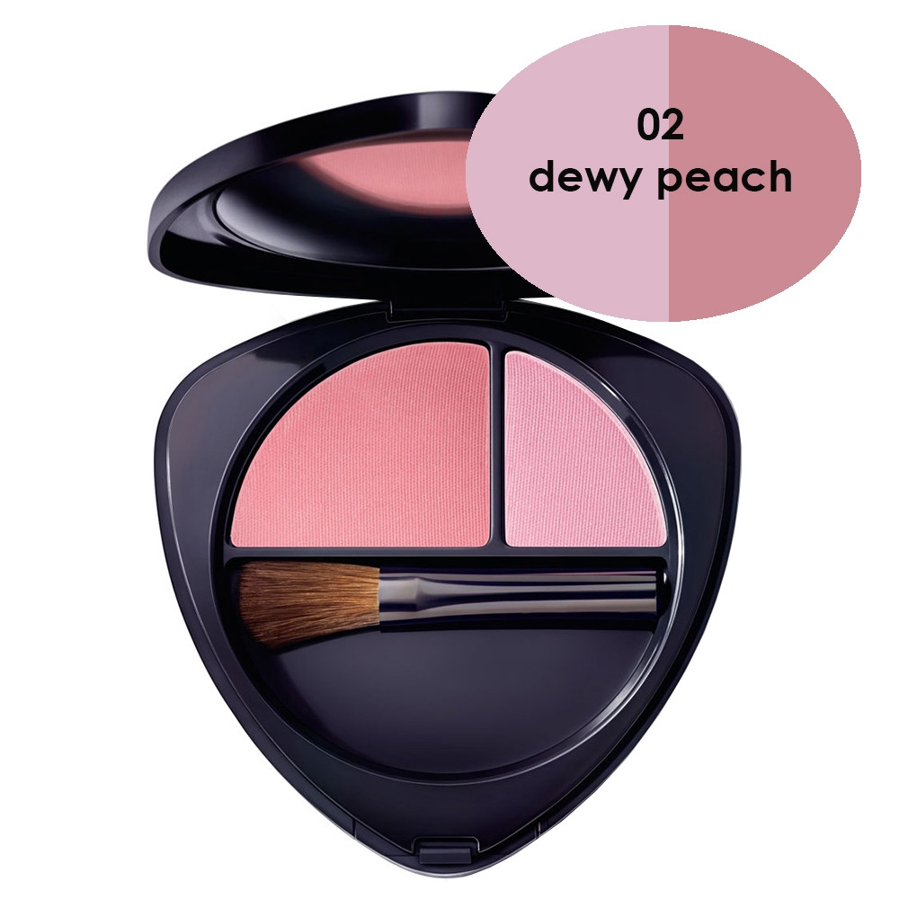 Dr Hauschka Blush Duo 02 Dewy Peach 5.7g