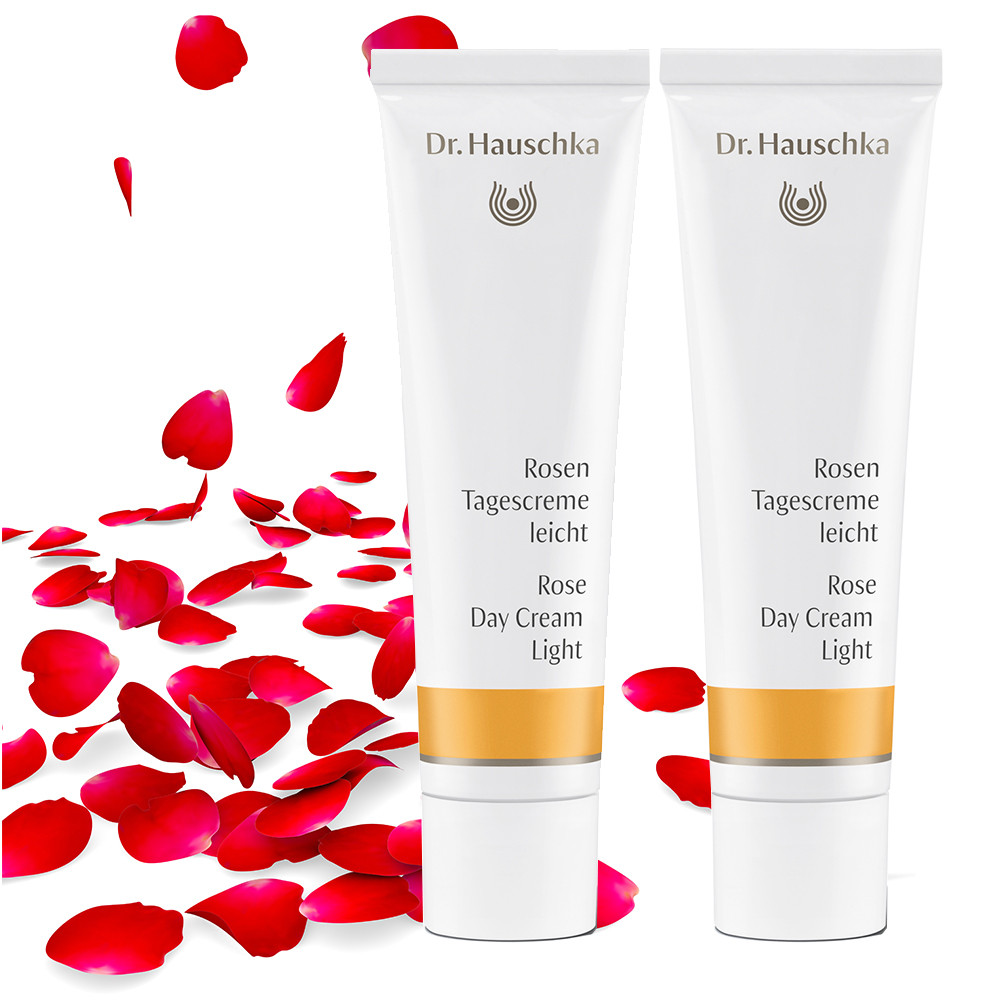 Dr Hauschka Rose Cream Bundle - 2 x Rose Day Cream Light 30ml