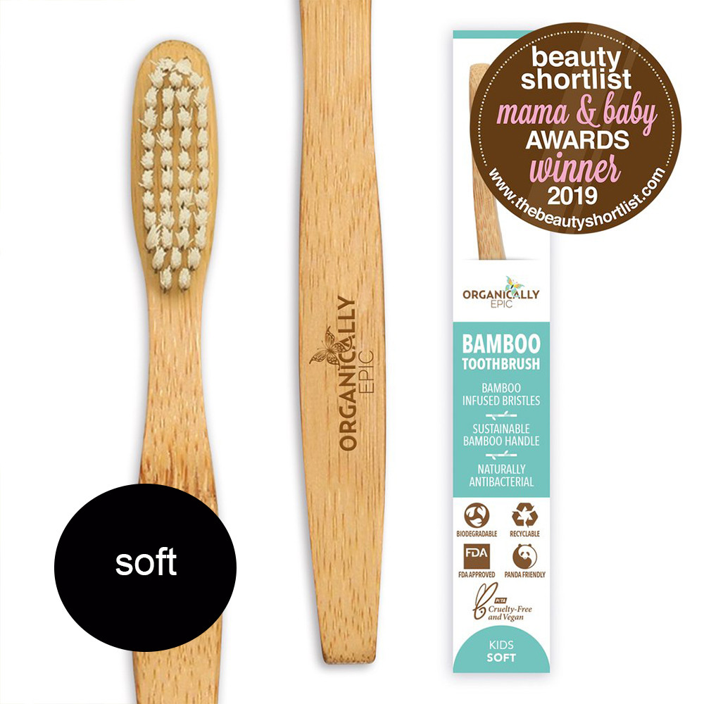 Organically Epic - Children's Bamboo Infused Bamboo Toothbrush SOFT