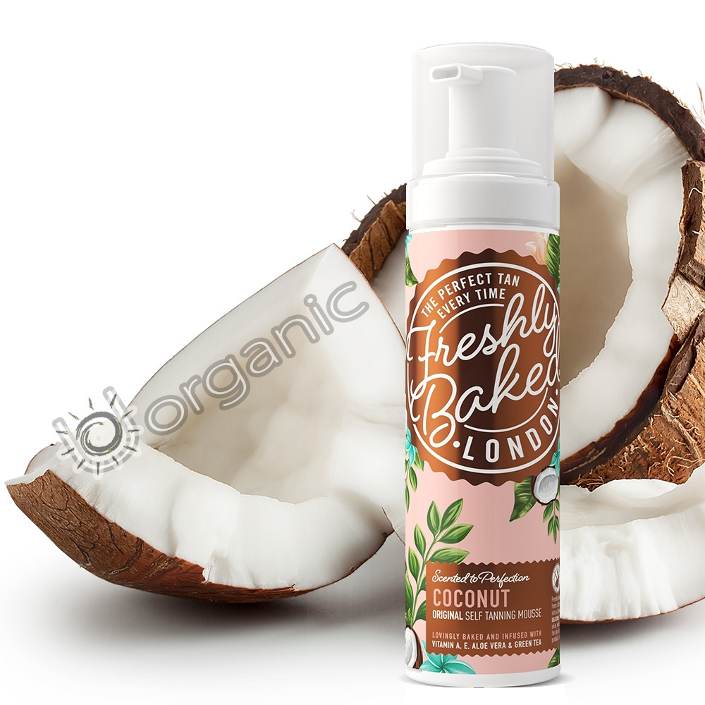 Freshly Baked London Dark Coconut Scented Self Tan Mousse 200ml