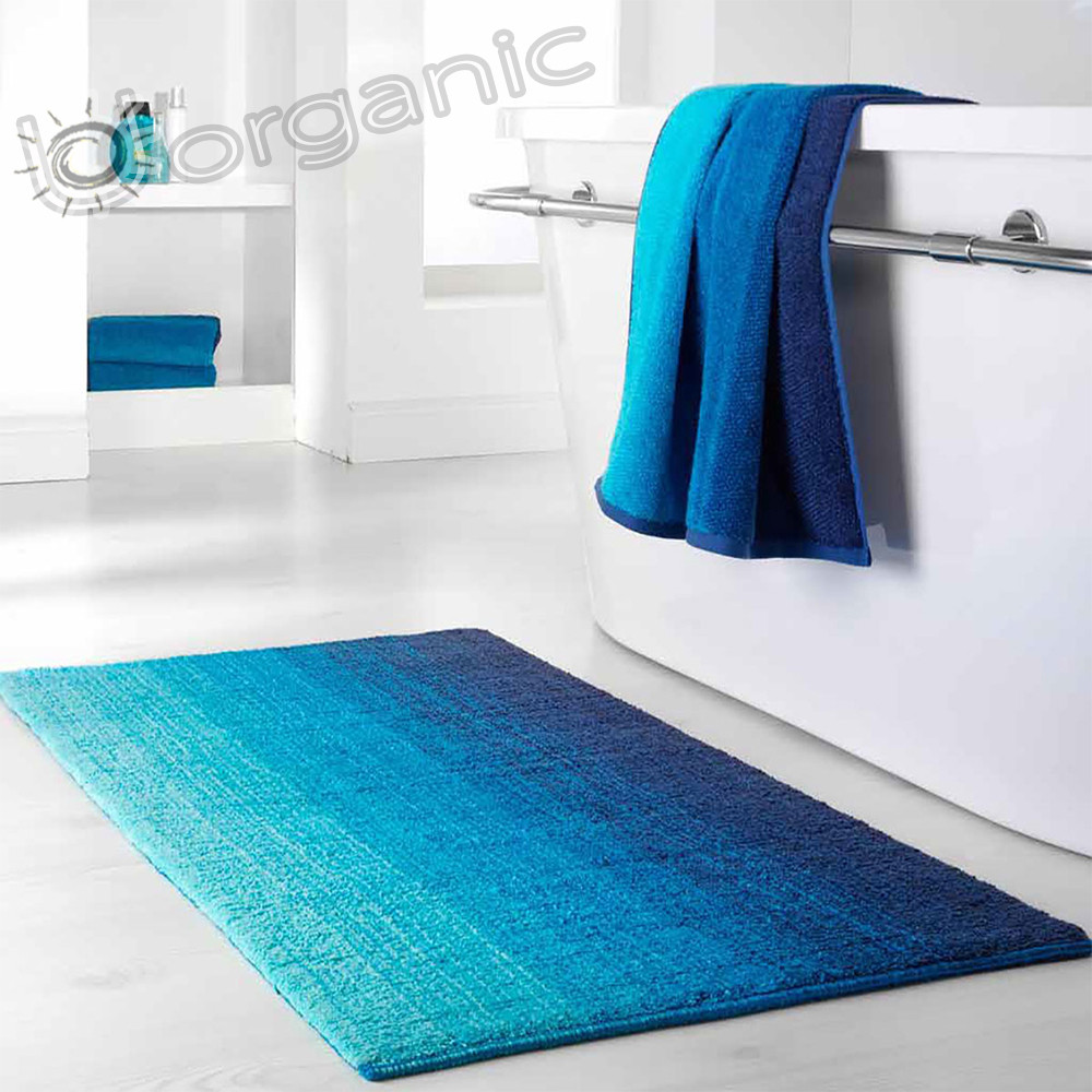 Dyckhoff Colori Bath Mat 100% Organic Cotton Blue