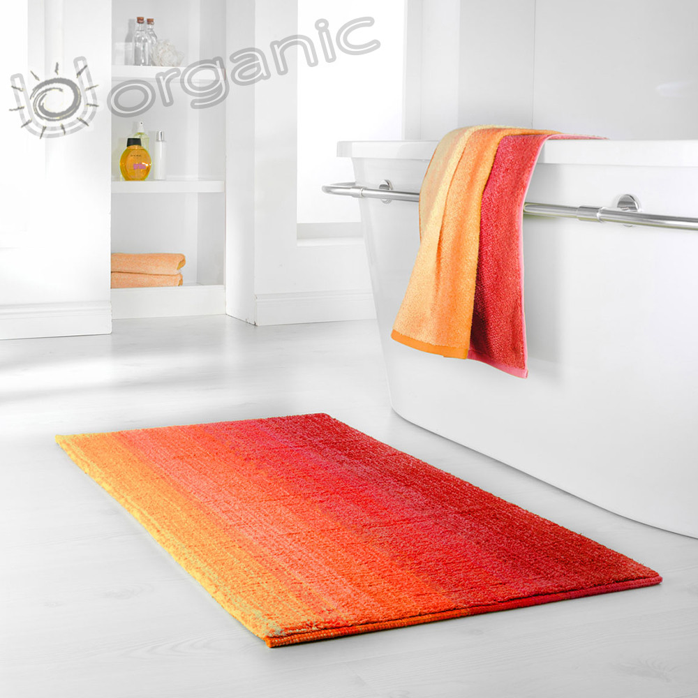 Dyckhoff Colori Bath Mat 100% Organic Cotton Red