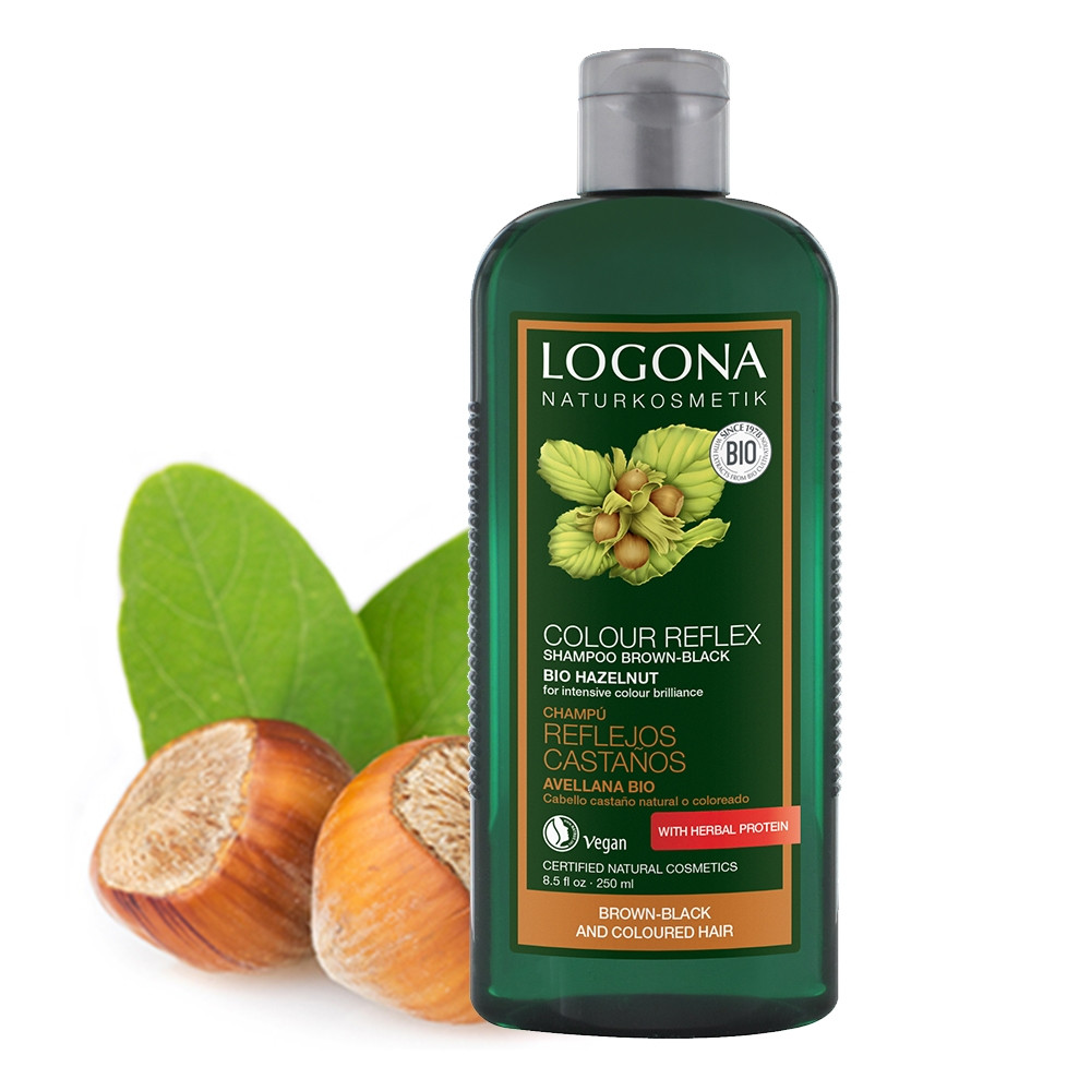 Logona Colour Care Shampoo Hazelnut for Brown to Black Hair 250ml