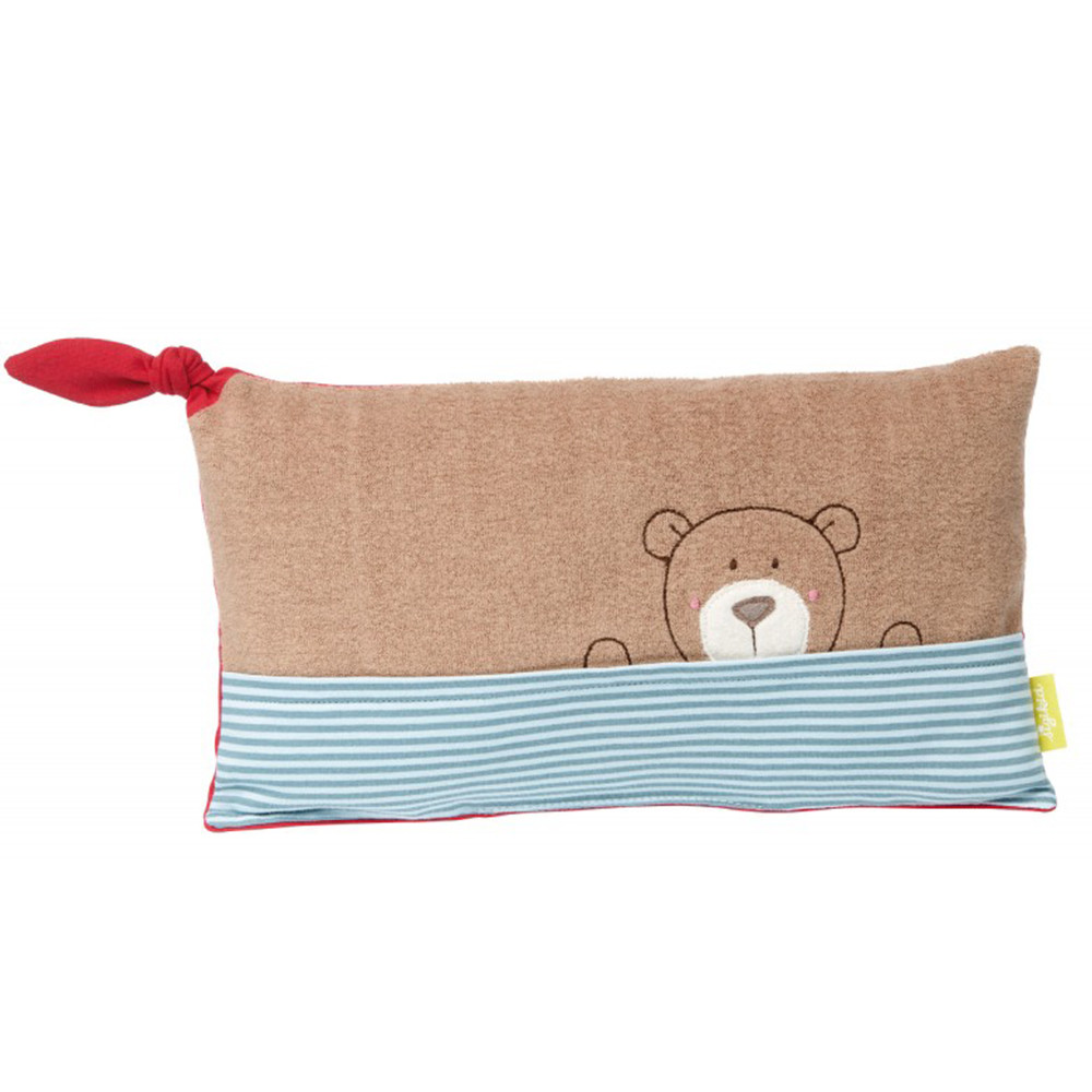 Sigikid Bear Cushion, Green Collection