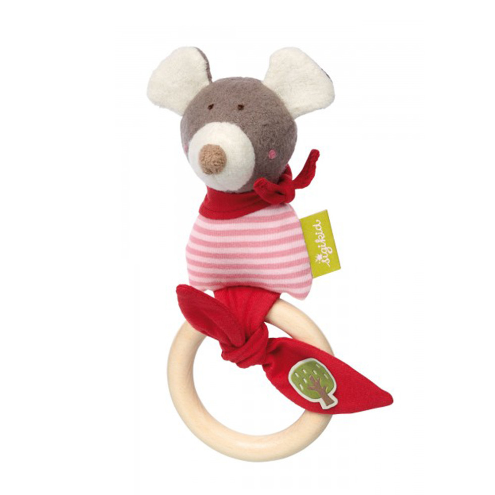 Sigikid Grasp Toy Mouse, Green Collection