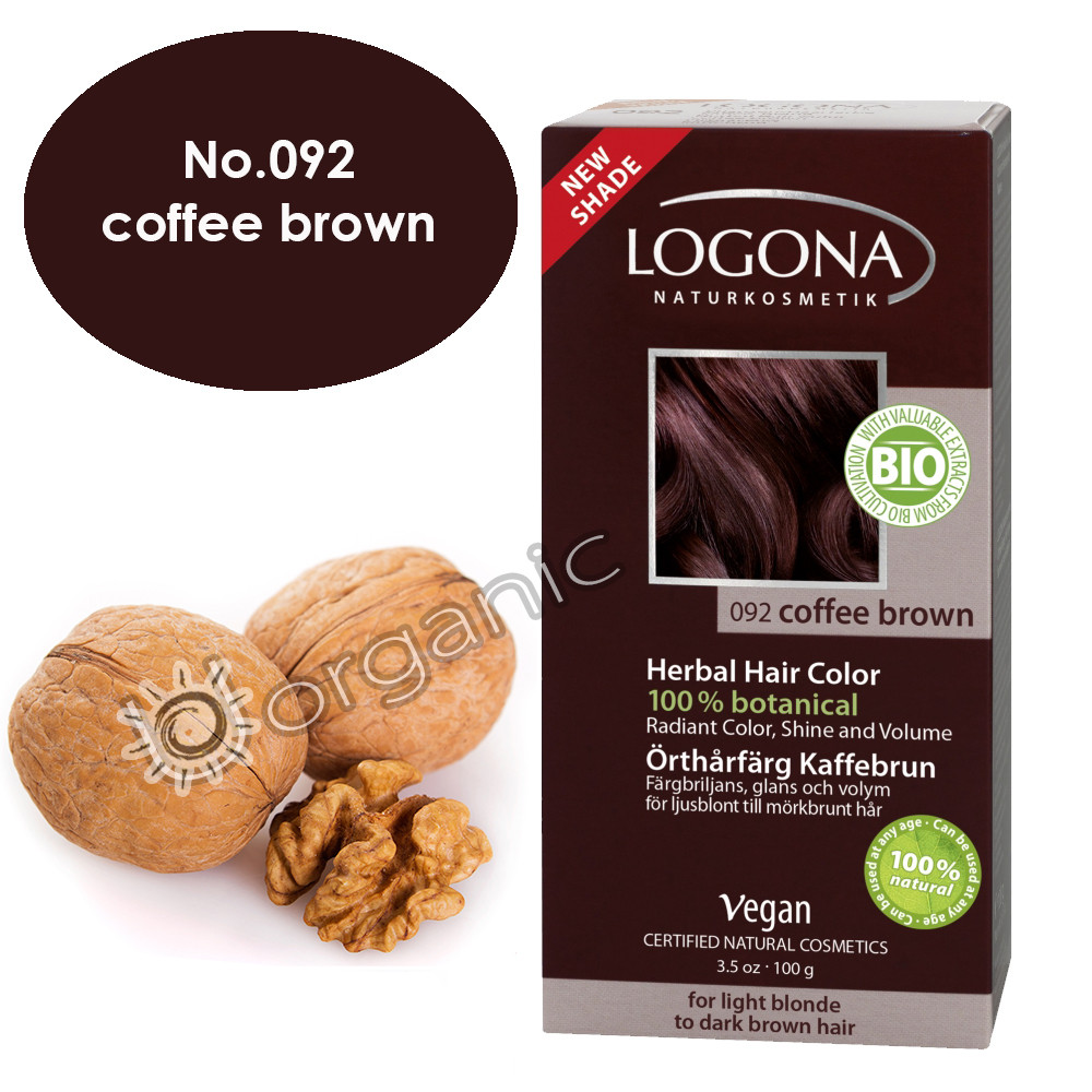 Logona Coffee Brown Herbal Hair Colour 100g