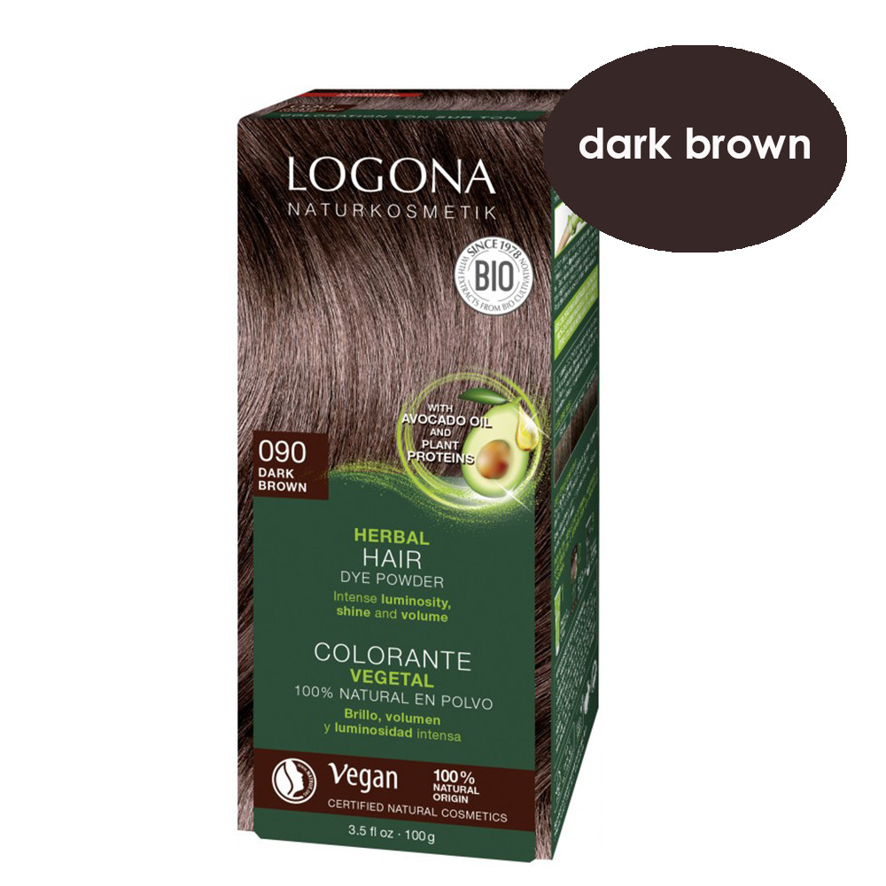 Logona Dark Brown Herbal Hair Colour 100g