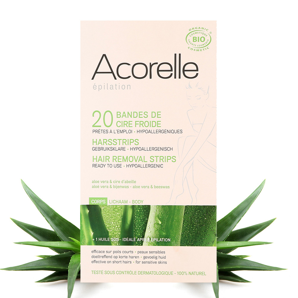 Acorelle Hair Removal Strips for Body - 20 Strips