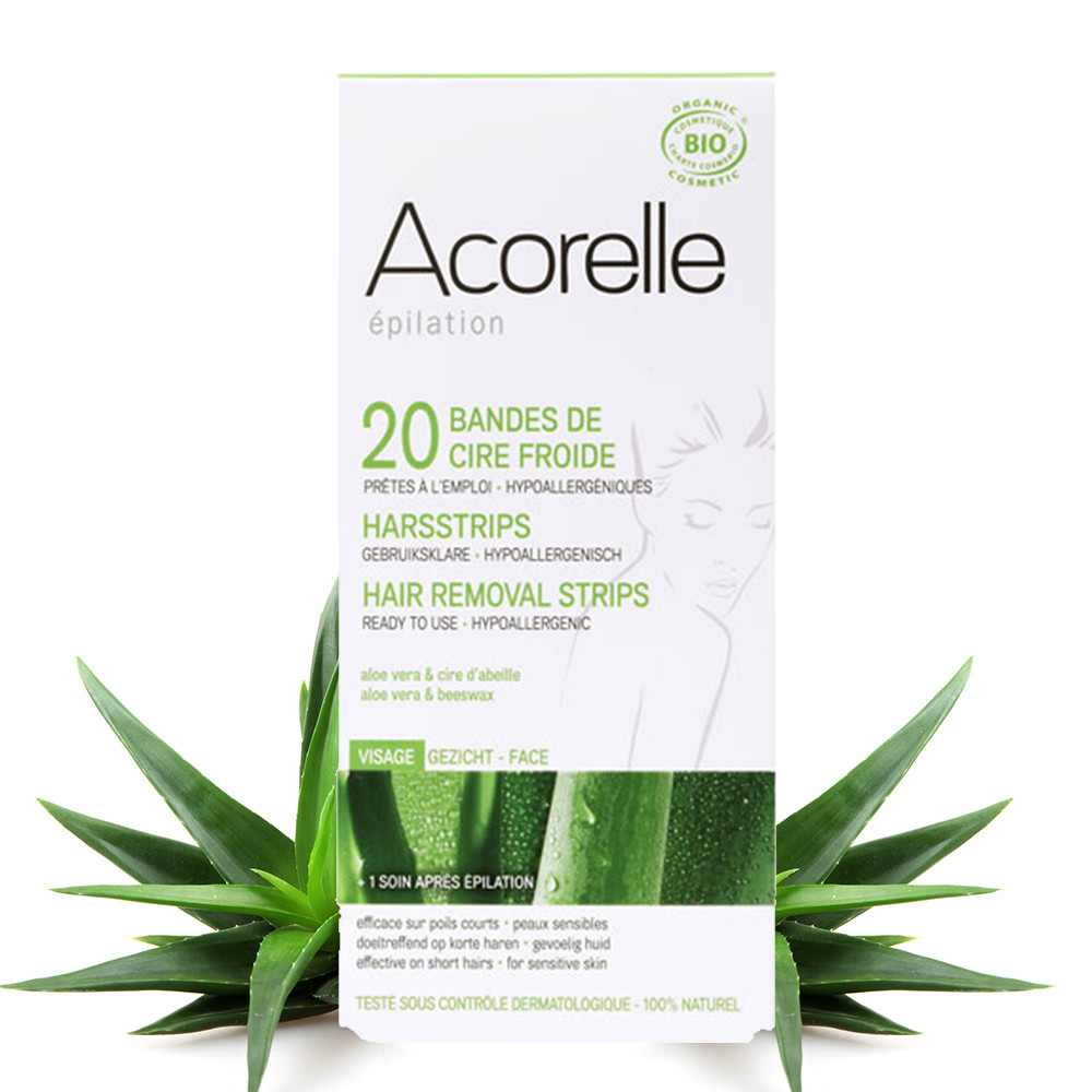 Acorelle Hair Removal Strips for Face - 20 Strips