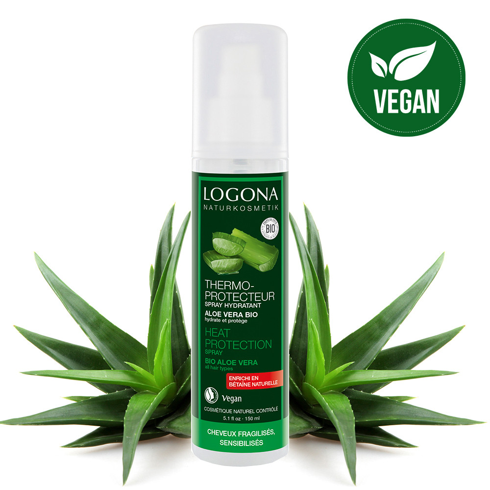 Logona Bio Aloe Vera Moisturizing Heat Protection Spray 150ml