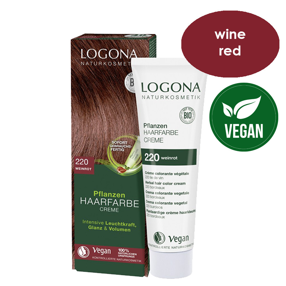 Logona Herbal Hair Colour Cream 220 Wine Red 150ml