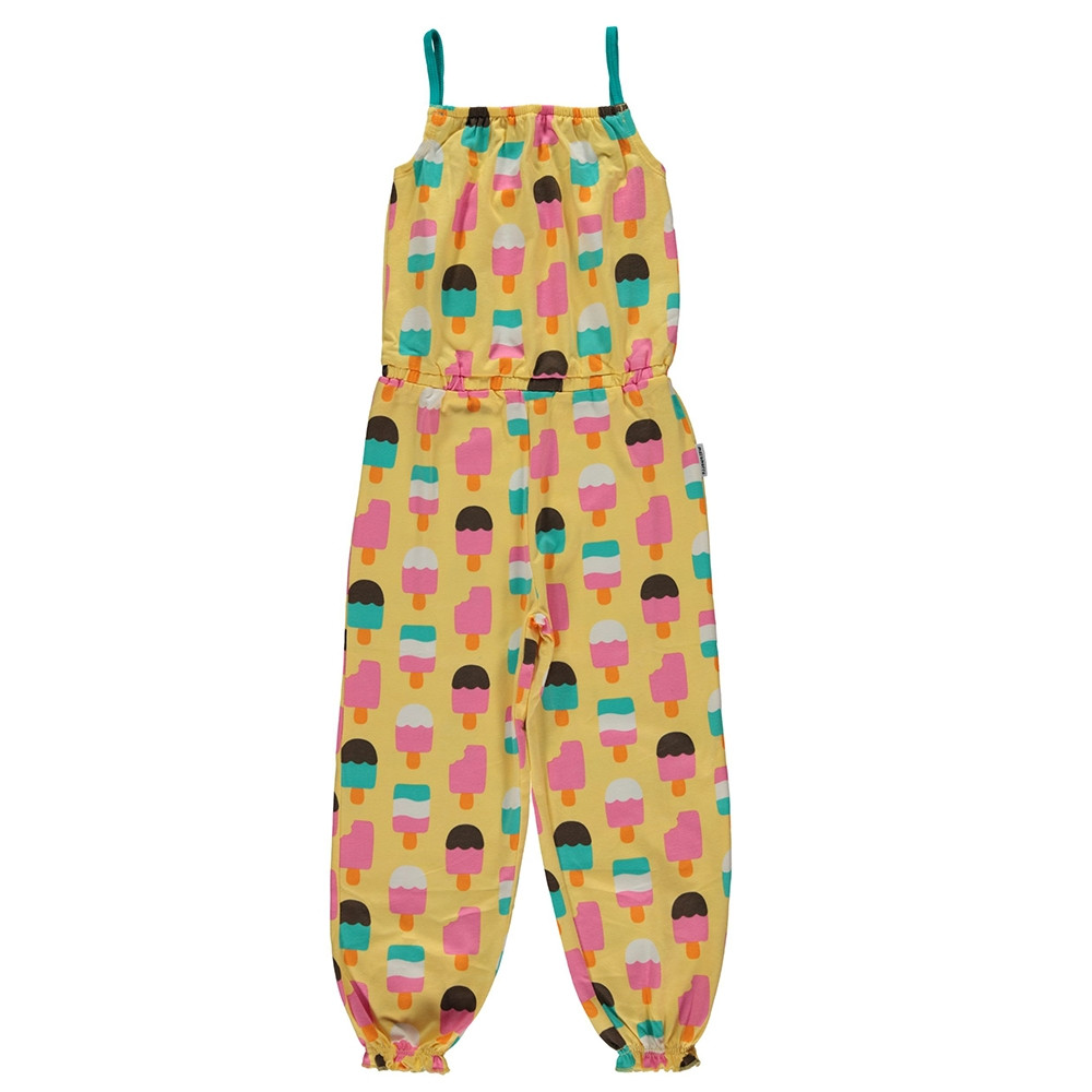 Maxomorra Ice Cream Yellow Jumpsuit