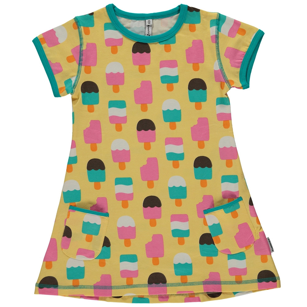 Maxomorra Ice Cream Yellow Short Sleeved Tunic