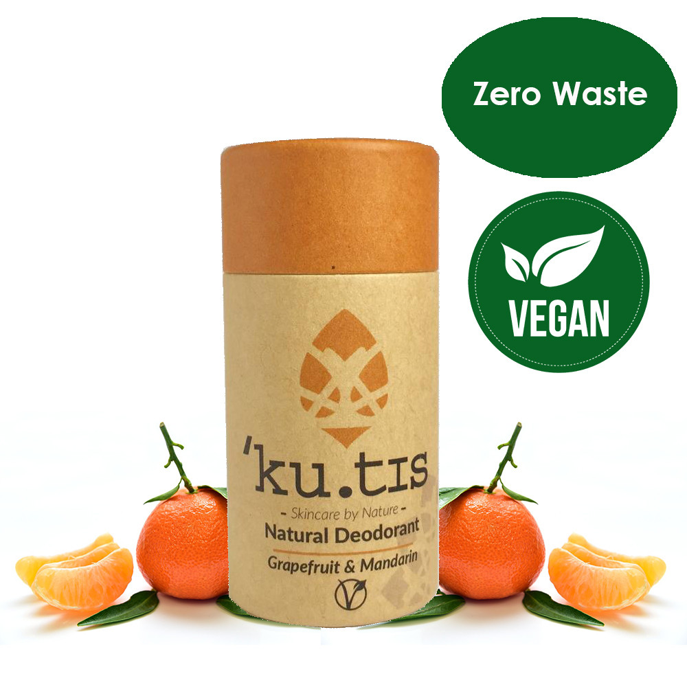 ku.tis Vegan Natural 100% Biodegradable Deodorant Grapefruit & Mandarin 55g