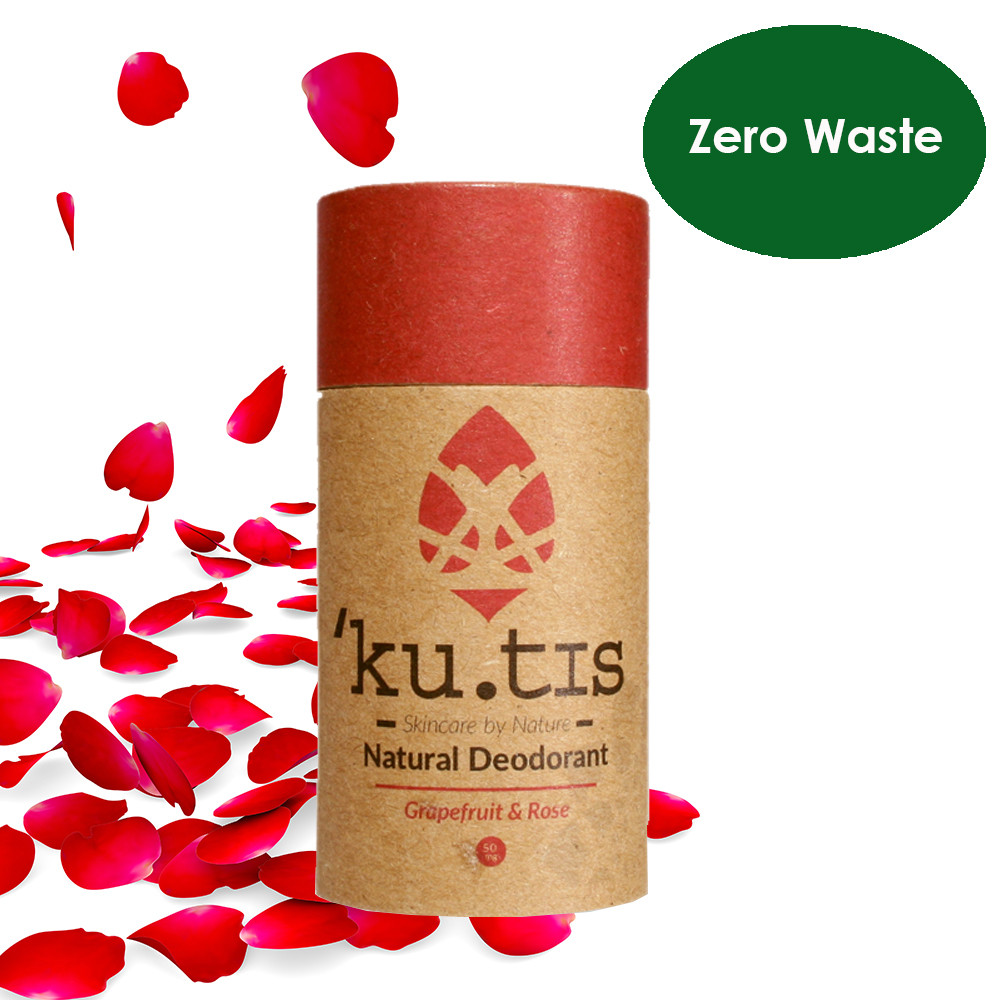 ku.tis Natural 100% Biodegradable Deodorant Grapefruit & Rose 55g