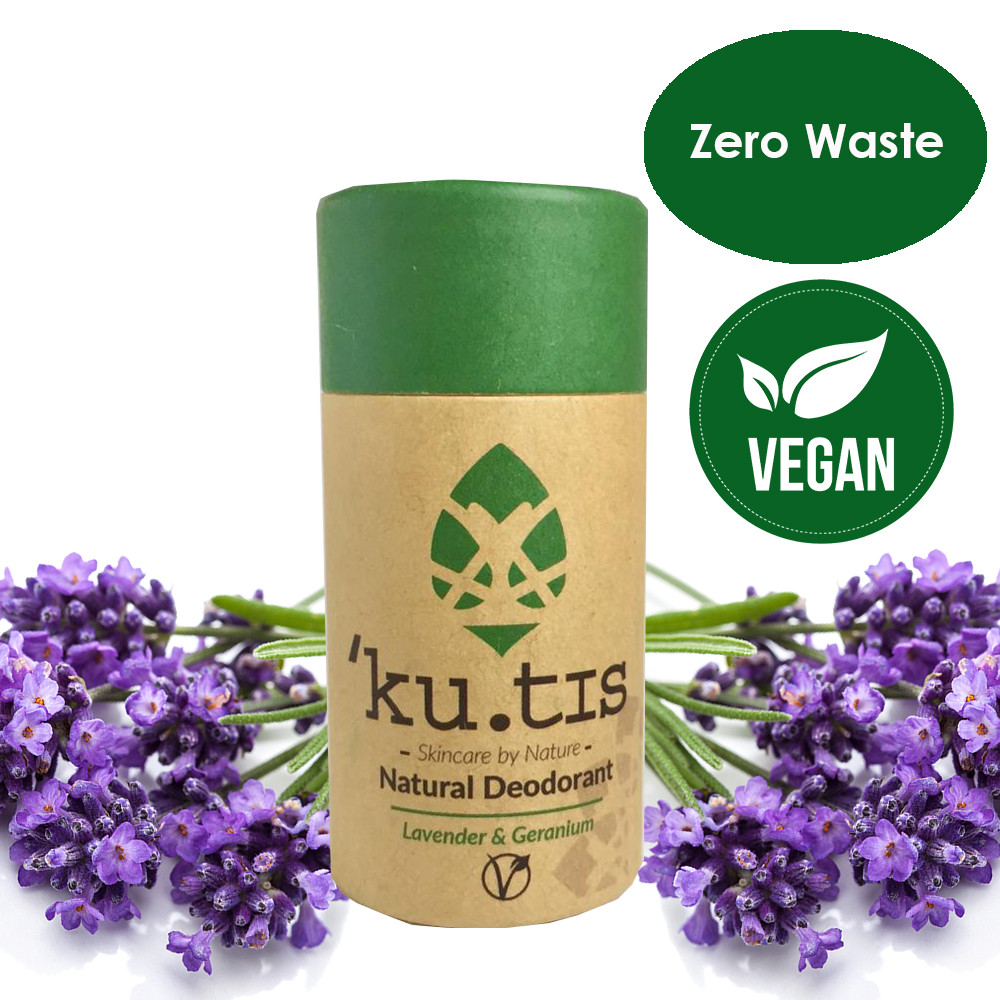 ku.tis Vegan Natural 100% Biodegradable Deodorant Lavender & Geranium 55g