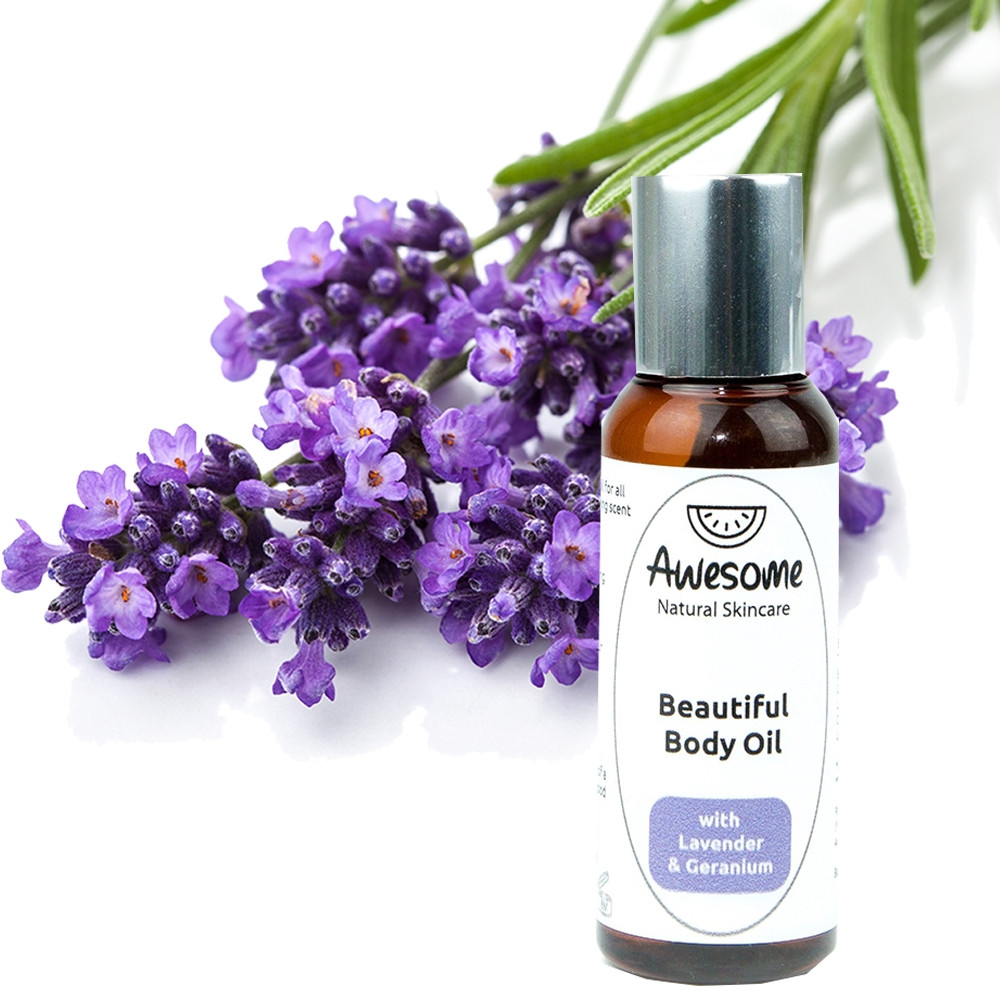 Awesome Natural Skincare Beautiful Body Oil – Lavender & Geranium 50ml