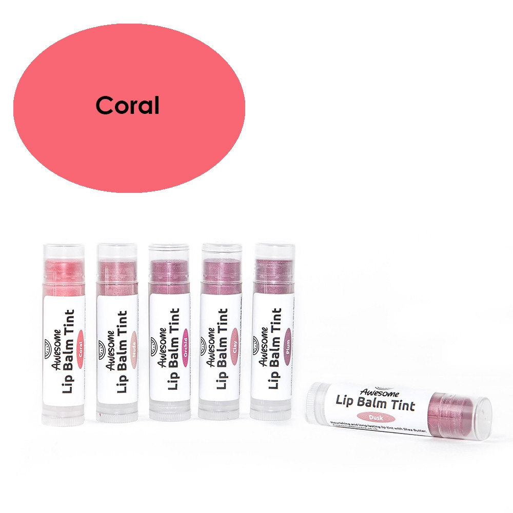 Awesome Natural Skincare Lip Balm Tint - Coral 10.2g