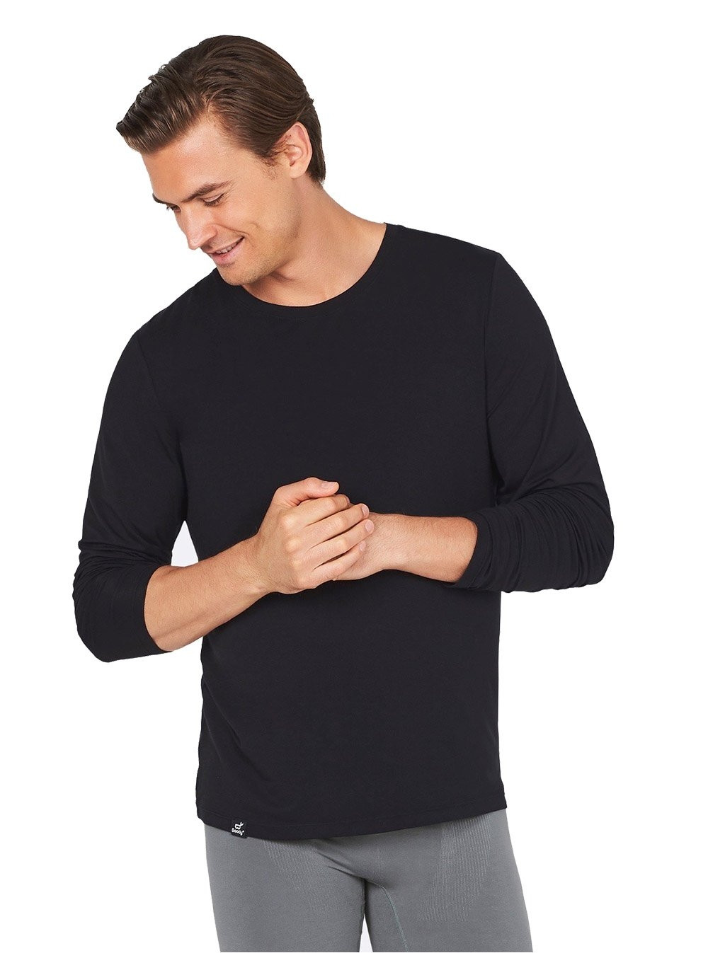 Boody Organic Bamboo Mens Long Sleeve T-Shirt
