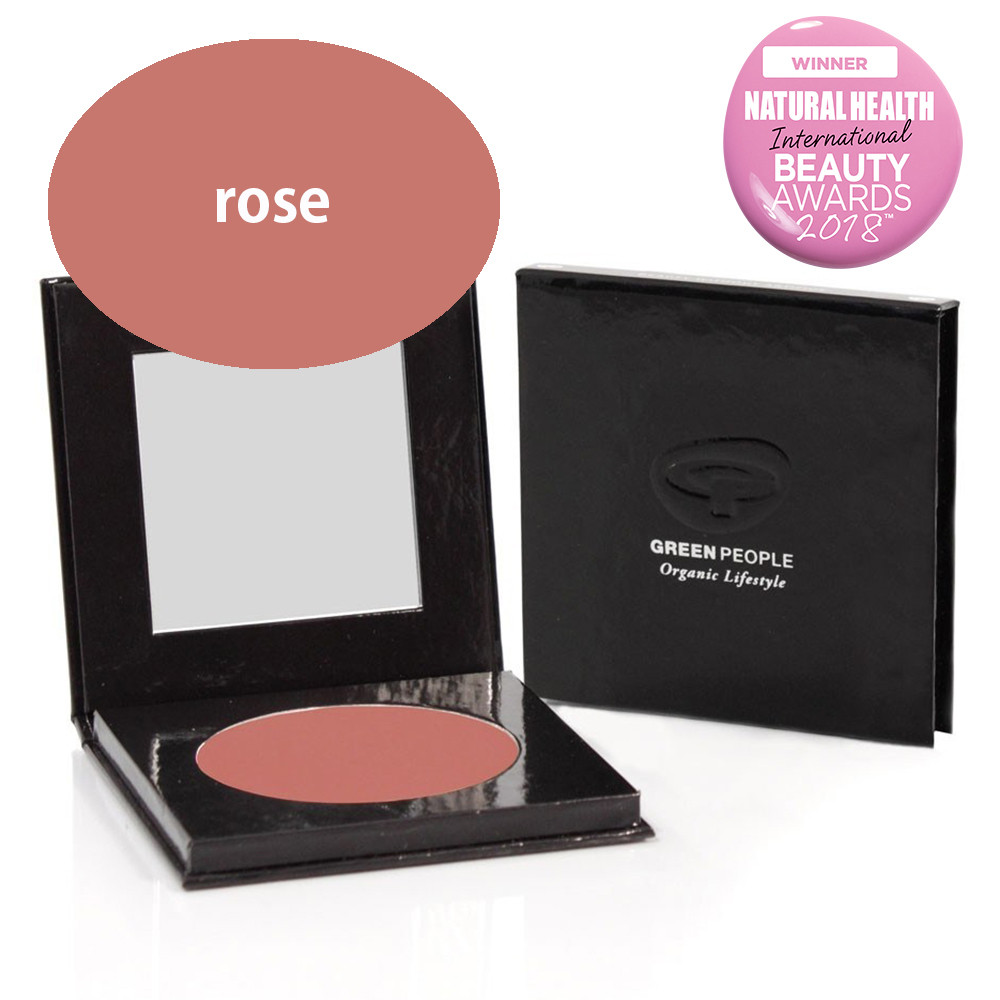 Green People Mineral Powder Blush SPF15 - Rose 10g