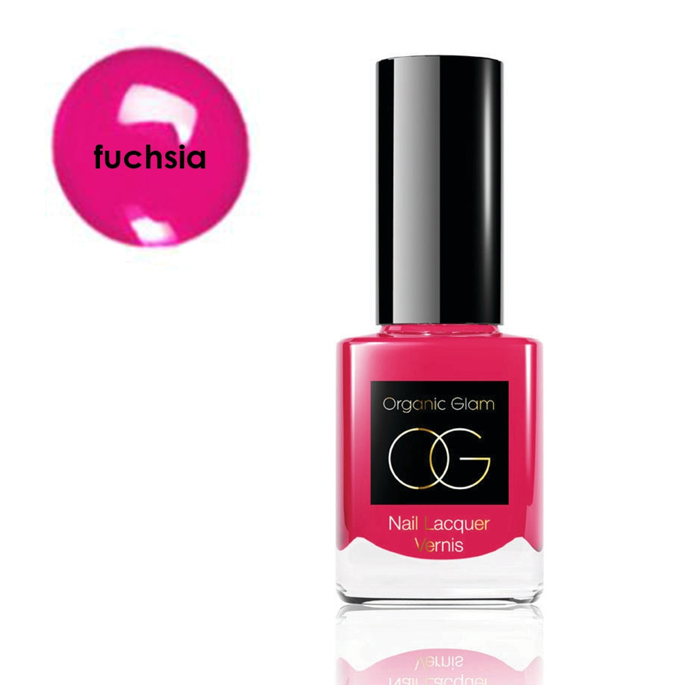 The Organic Pharmacy Nail Polish Fuchsia Pink 11ml