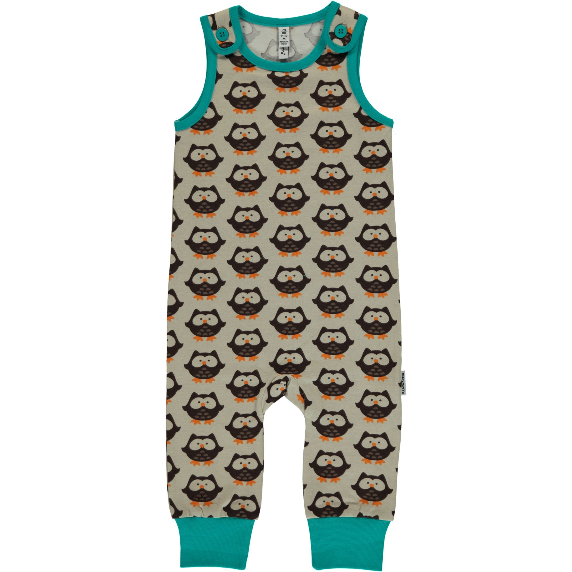 Maxomorra Owl Playsuit Long
