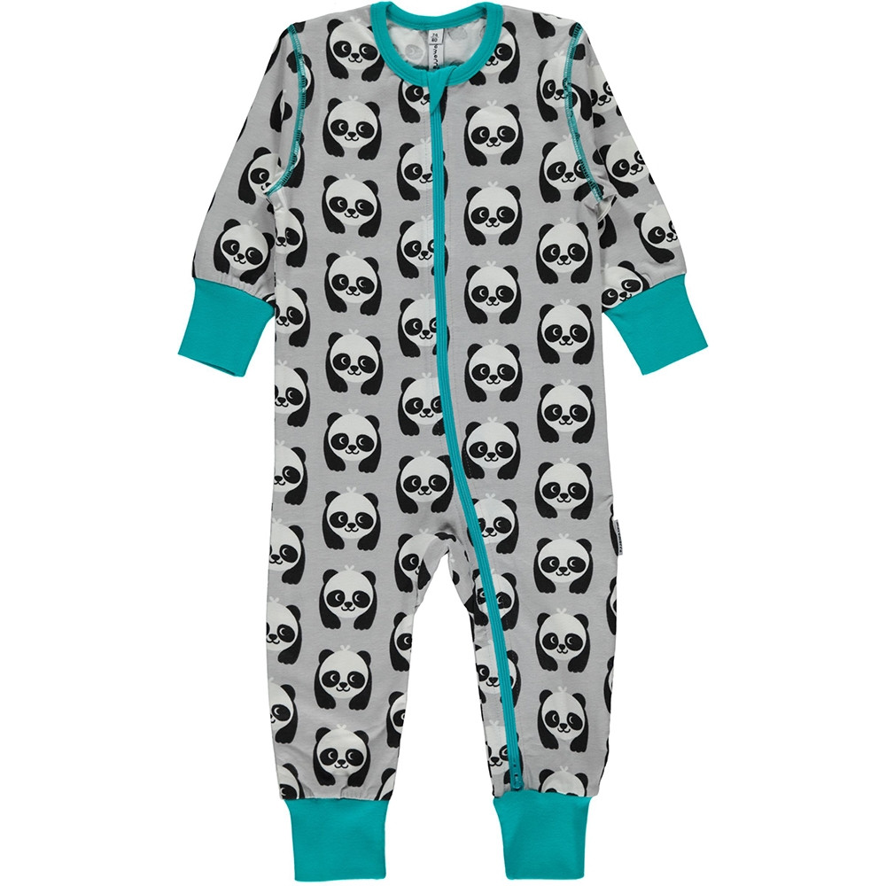 Maxomorra Panda Rompersuit Long Sleeved