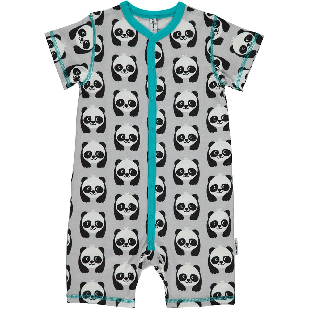 Maxomorra Panda Rompersuit Short Sleeved