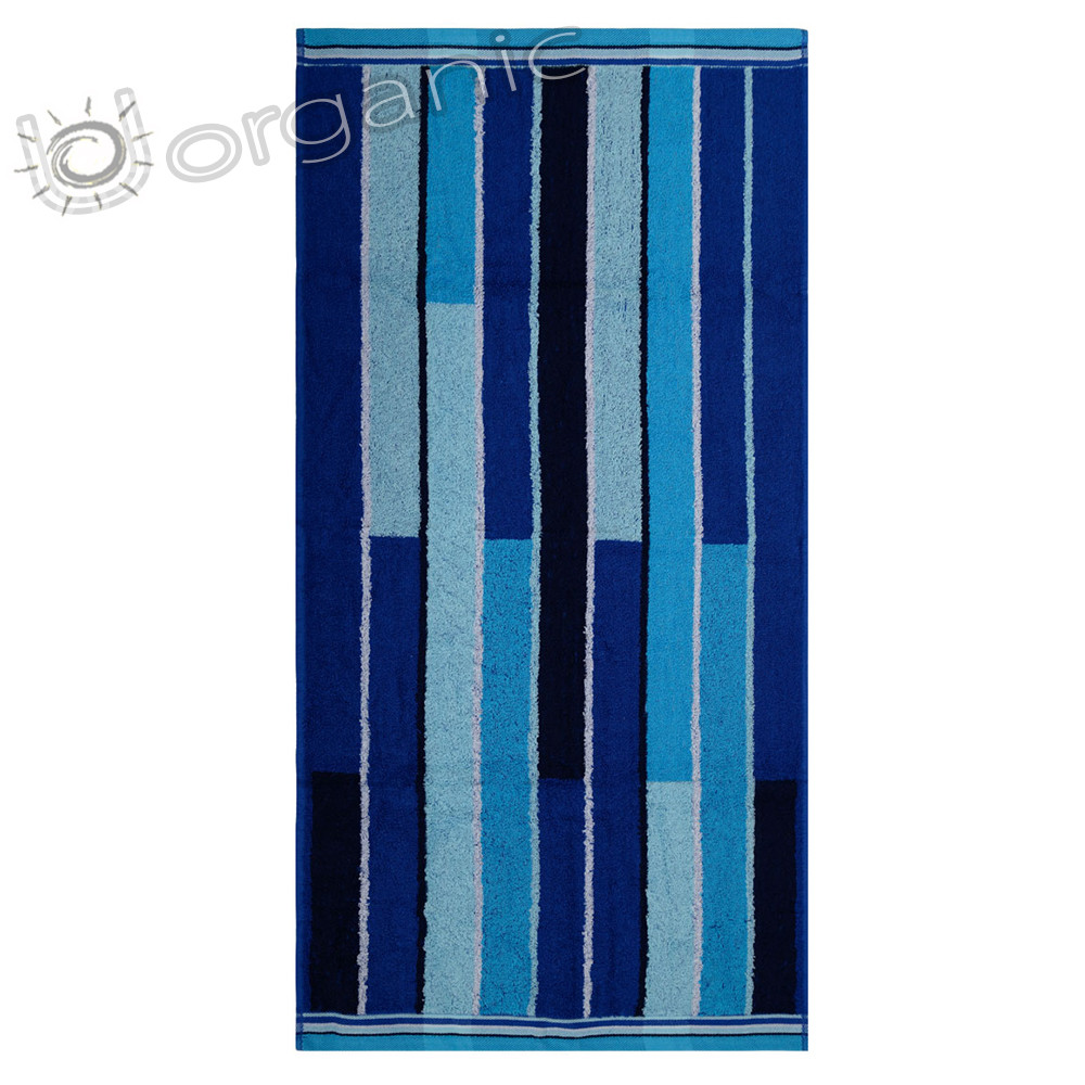 Dyckhoff Planet Stripes Towel 100% Organic Cotton - Blue