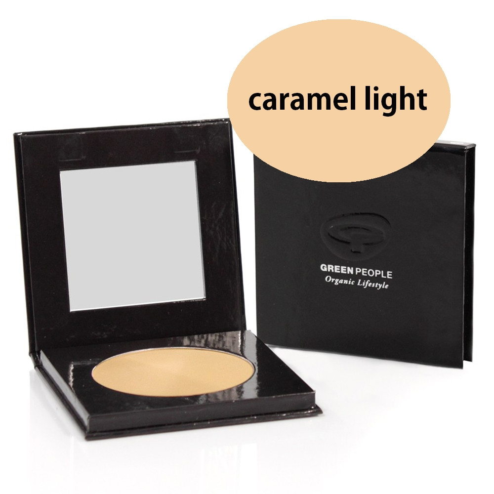 Green People Pressed Powder SPF15 - Caramel Light 10g