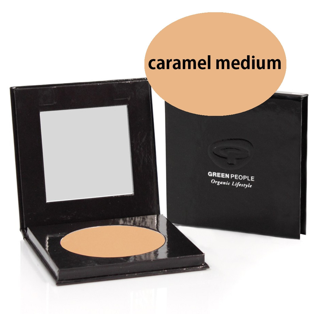 Green People Pressed Powder SPF15 - Caramel Medium 10g
