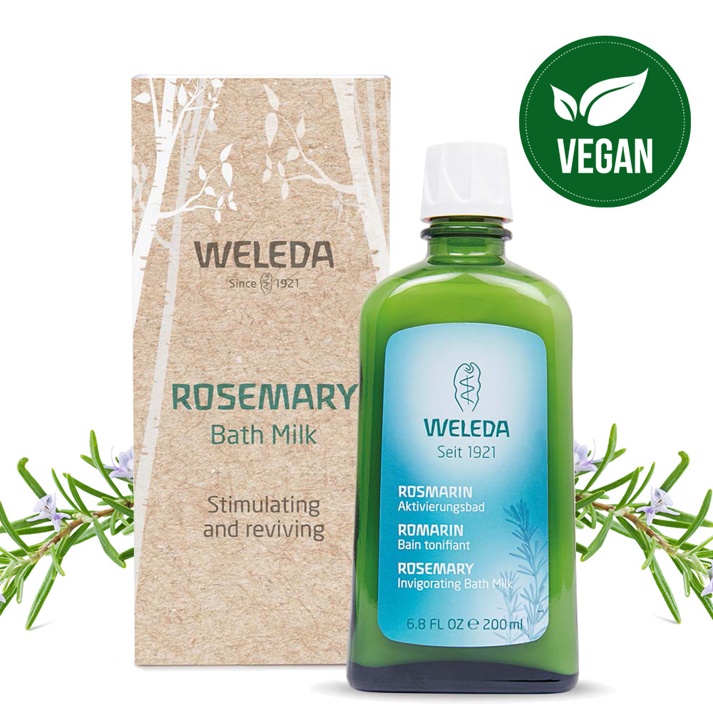 Weleda Rosemary Bath Milk Gift 200ml -06/2021