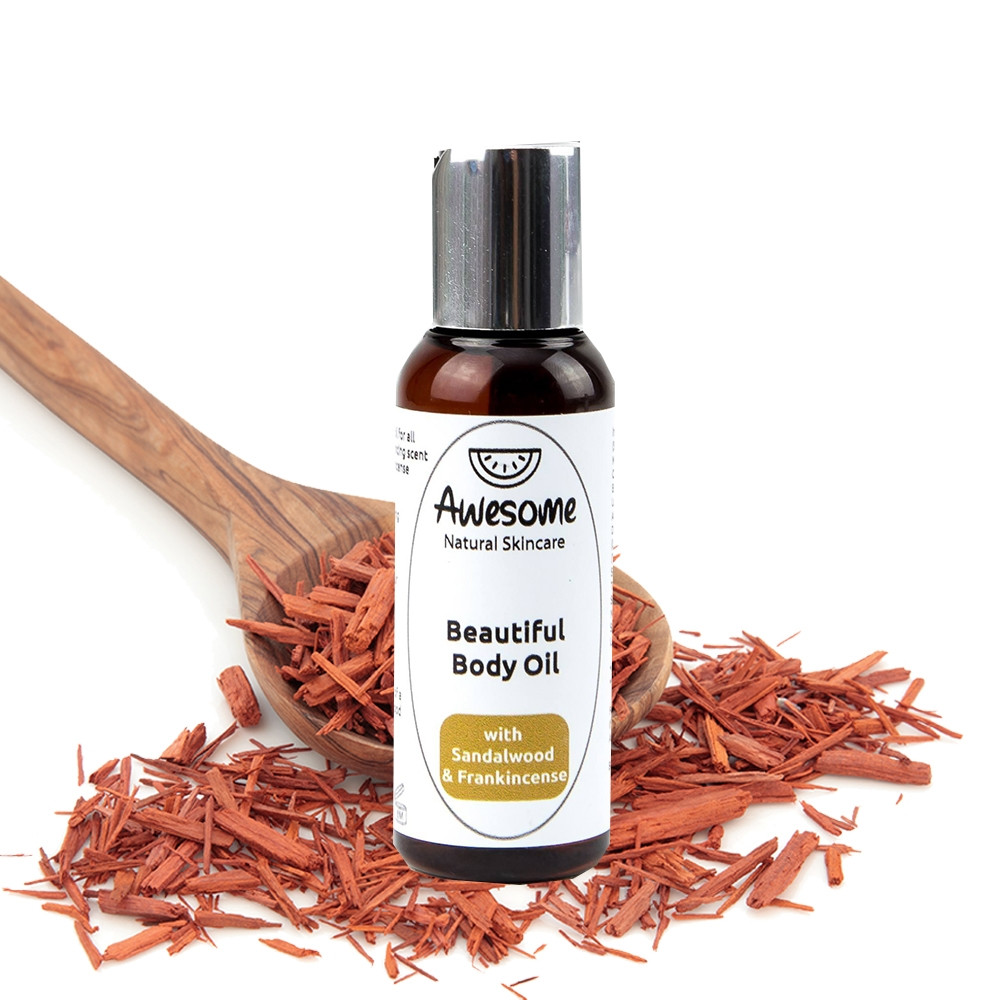 Awesome Natural Skincare Beautiful Body Oil – Sandalwood & Frankincense 50ml