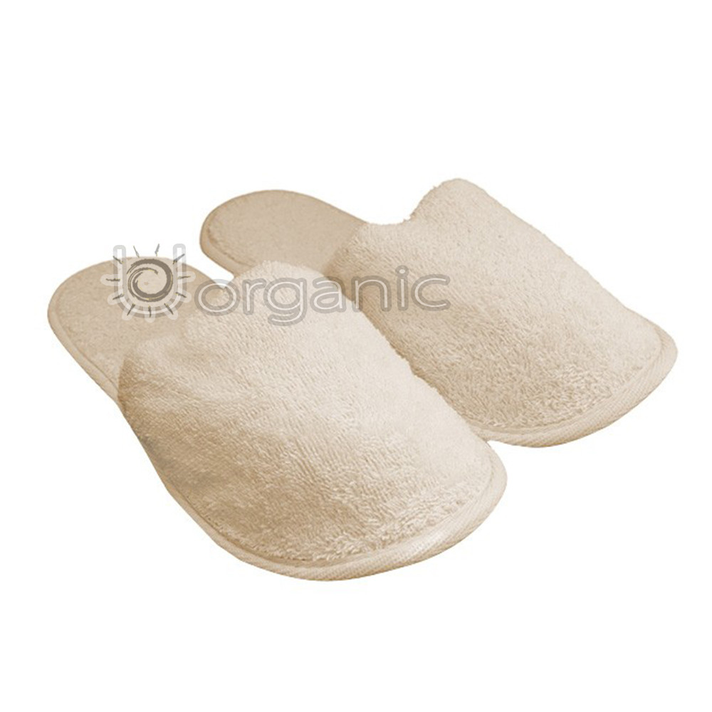 The Eco Bath Natural Toweling Slippers