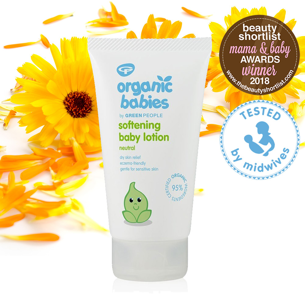 Green People Organic Babies Softening Baby Lotion Scent Free 150ml