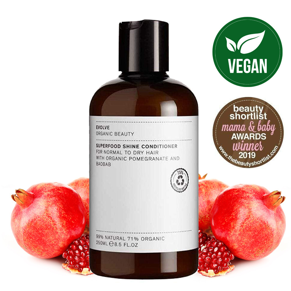 Evolve Superfood Shine Natural Conditioner for Normal to Dry Hair 250ml