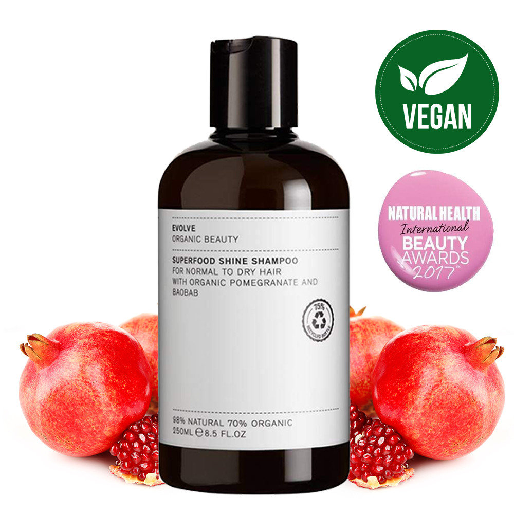 Evolve Superfood Shine Natural Shampoo for Normal to Dry Hair 250ml