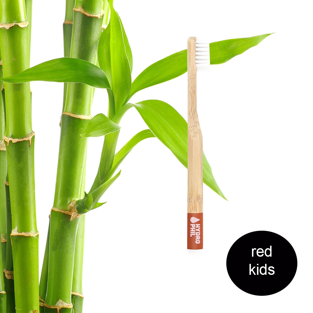 Hydrophil Kids - Biodegradable, Bamboo Toothbrush Red