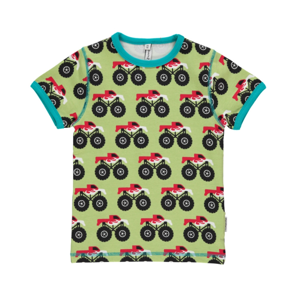 Maxomorra Monster Truck T-Shirt Top Slim
