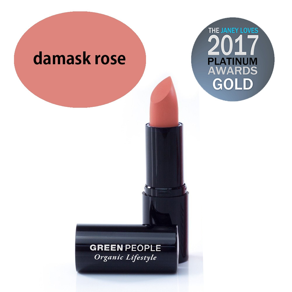 Green People Velvet Matte Lipstick - Damask Rose