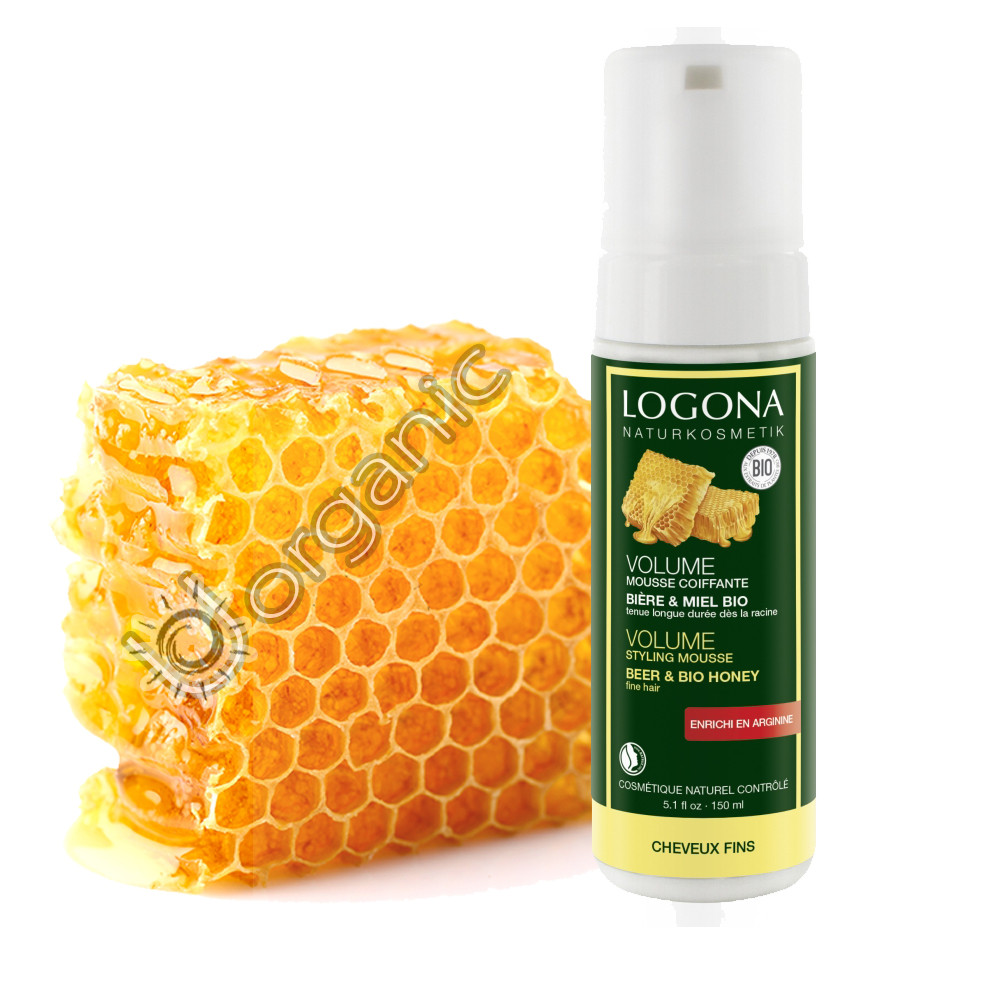 Logona Volume Styling Mousse Bio Beer & Honey 150ml